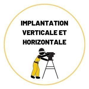 Implantation verticale et Horizontale
